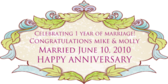 Celebrating 1 Year Of Marriage! Congratulations
