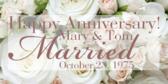 Happy Anniversary!  Bride & Groom Names