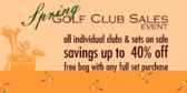 Golf Clubs Sales