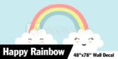"""48"""" X 78""""Rainbows and butterflies Wallpaper"""
