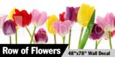 "48"" X 78""Wall of Flowers Wallpaper"