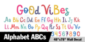 "48"" X 78""Abc Alphabet Wallpaper"