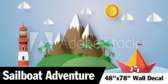 """48""""x78"""" Sailboat Adventure Wallpaper"""