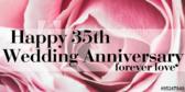 Happy 35th Wedding Anniversary!