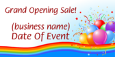 Grand Opening Sale Event