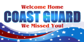 Welcome Home Coast Guard Star Ribbon