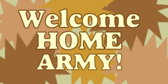 Welcome Home Army Camouflage Starbursts