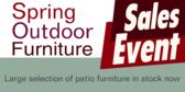 Spring Outdoor Furniture Sales Event