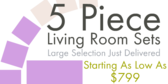 5 Piece Living Room Sets