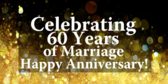 Celebrating Sixty Years Of Marriage Happy Annivers