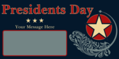 President's Day Message