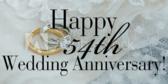 Happy 54th  Wedding Anniversary!