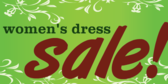 Women's Dress Sale Green Floral