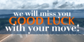 Going Away Banners | Good Luck With Your Move Blue