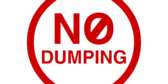 No Dumping Red White