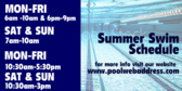 Summer Swim Schedule