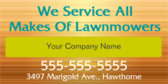 We Service All Makes Of Lawnmowers