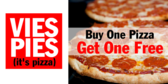 Buy One Pizza Get One Free