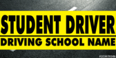 Student Driver with School Name