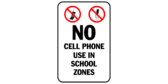 No cell phones use in school zones