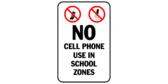 No cell phones use in school zones