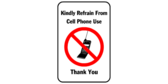 Kindly refrain from cell phone use, thank you