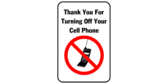 Thank you for turning off your cell phone