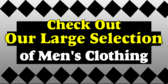 Large Selection Of Mens Clothing