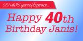 Happy 40th Birthday Janis