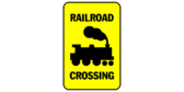 Railroad Crossing Yellow Black