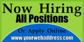 Now Hiring Apply Online