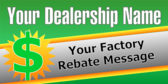 Dealership Factory Rebate