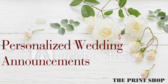 Print and Copy Store Wedding Announcement Message