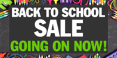Welcome Back To School Sale