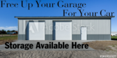 Free Up Your Garage For Your Car