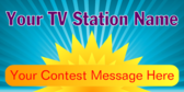TV Station Contest Message