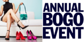 Annual Shoe Store BOGO Event