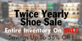 Twice Yearly Shoe Sale