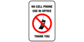No cell phone use in office