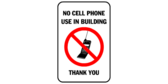 No cell phone use in building