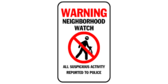 Neighborhood watch – all suspicious activity rep