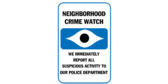 Neighborhood crime watch – we immediately report