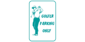 Golfer parking only