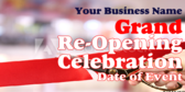 Grand Re-Open Celebration Banner