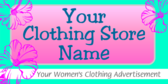 Woman's Clothing Advertisement