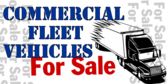 Commercial Fleet Vehicles Sale