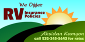 We Offer RV Insurance