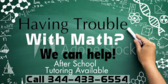 After School Math Tutoring Available