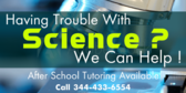 After School Science Tutoring Available