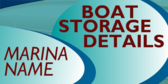 boat storage signs